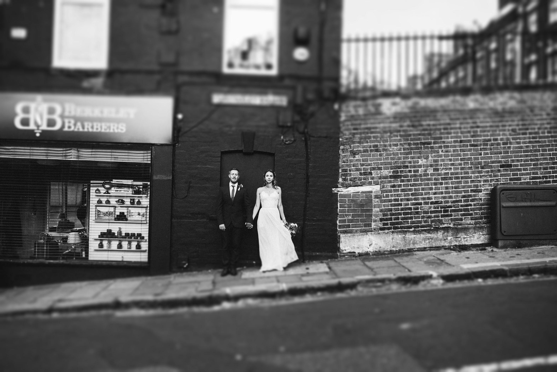 couple at Berkley square hotel in Bristol