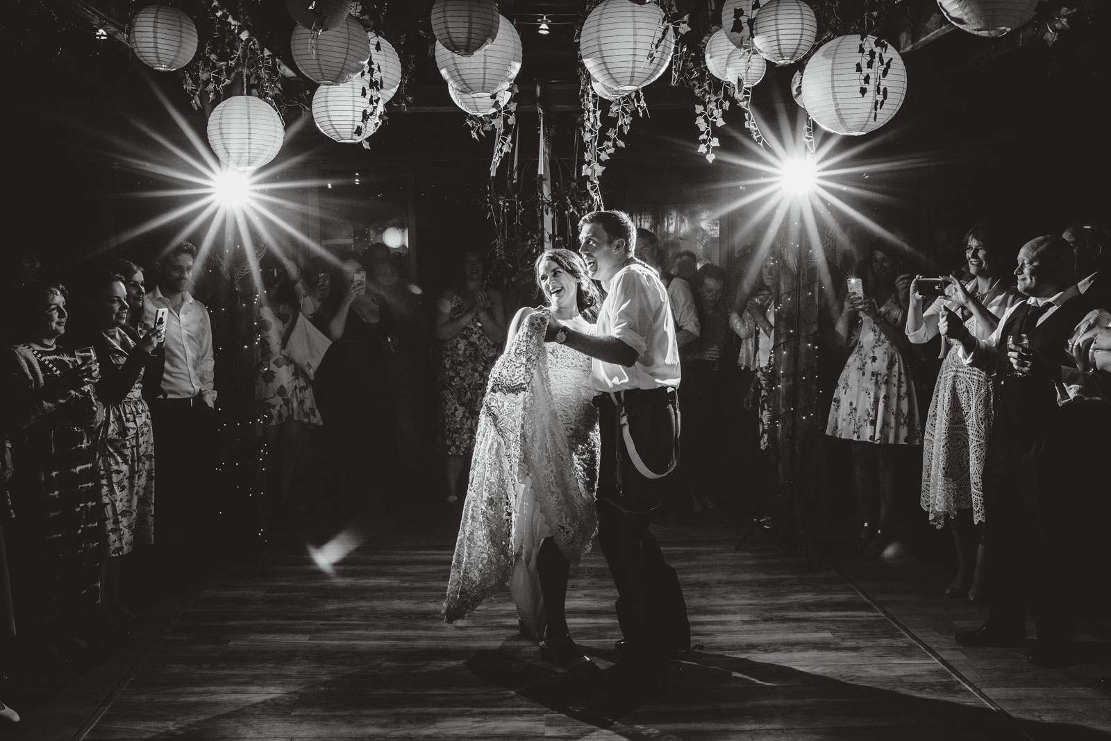 emily and bobs first dance as man and wife at abbey house gardens in wiltshire