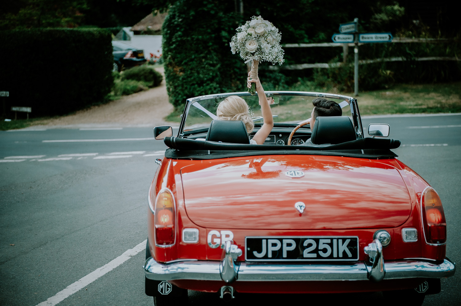 Joels and Amie wedding at Greens barn in Dorking