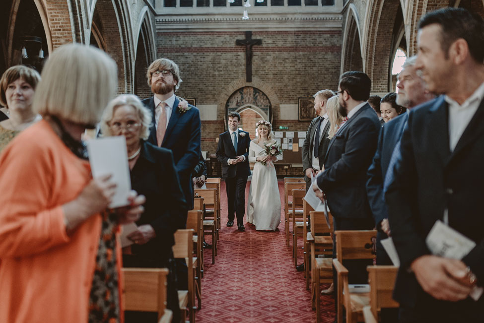 Hipster wedding at The Black Dog in London