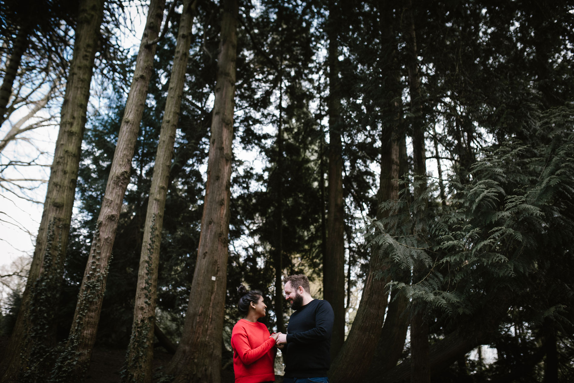 Pre wedding shoot at the Botanical Gardens in Bath with Andrew Brannan Photography