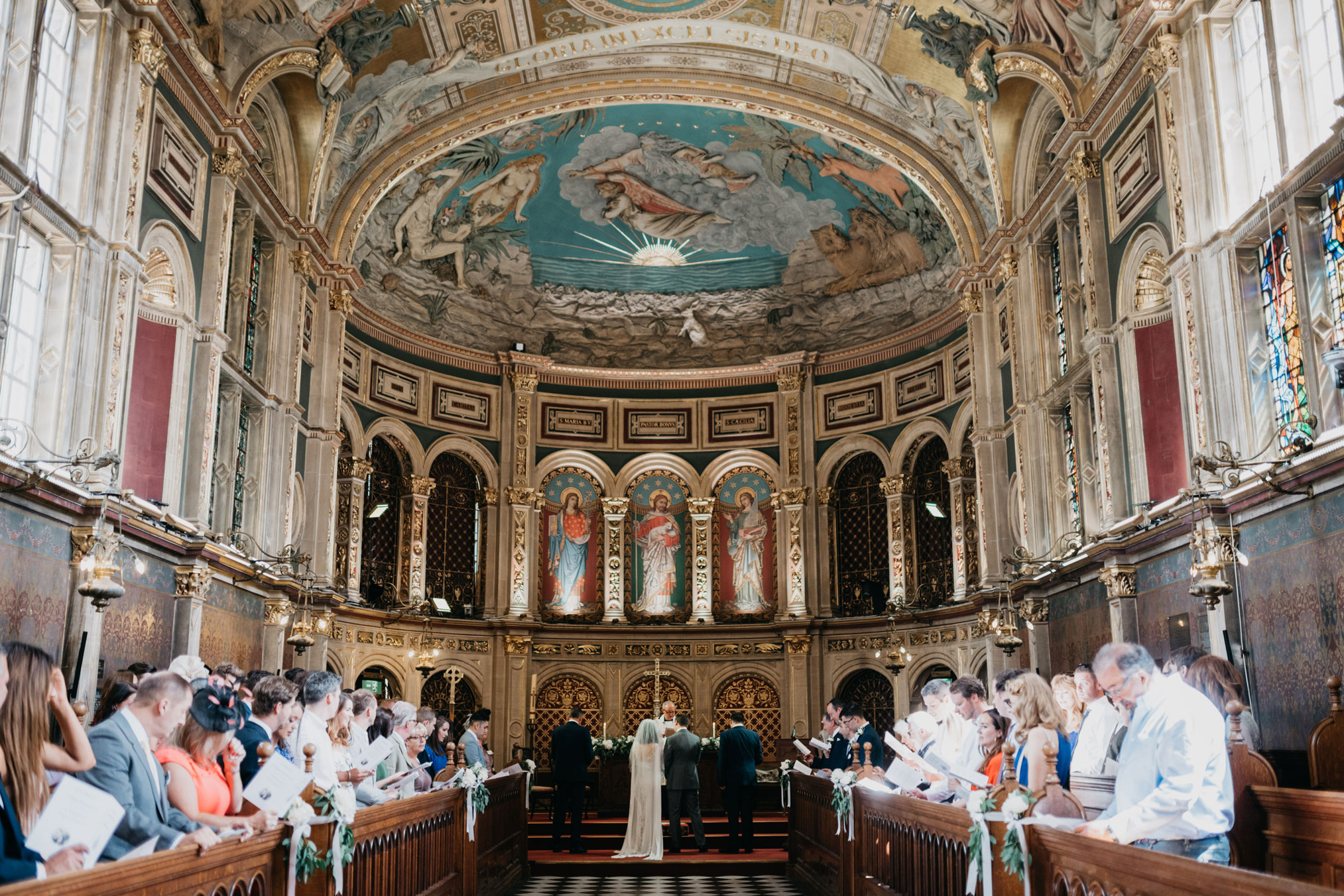 Lauren and Simon getting married at Royal Holloway university in London in a magnificient church