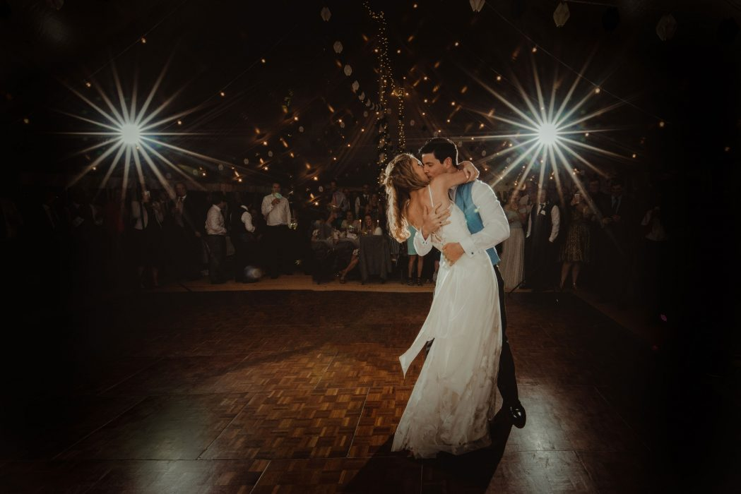 rebecca and peter having their first dance together