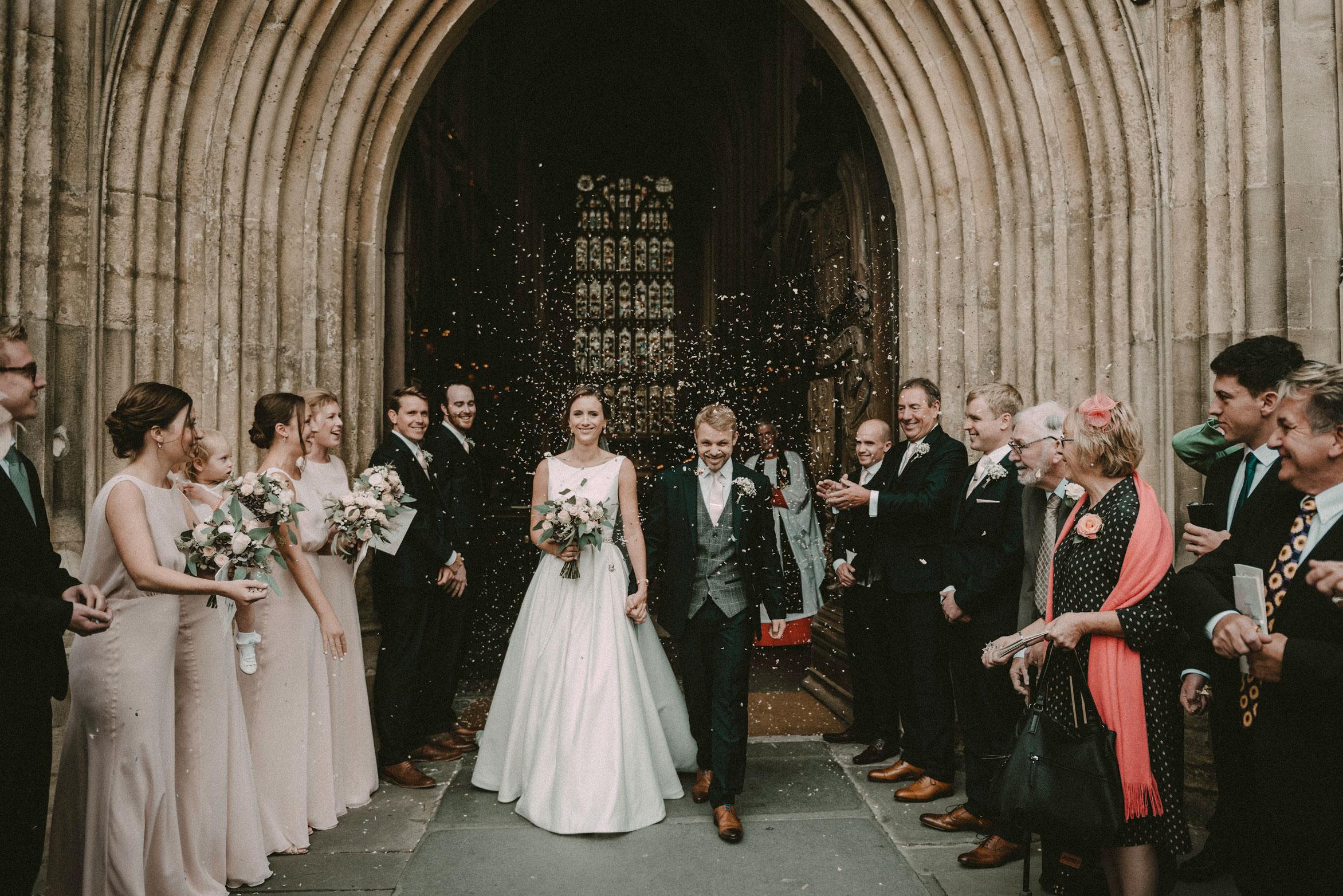 confetti at Bath Abbey