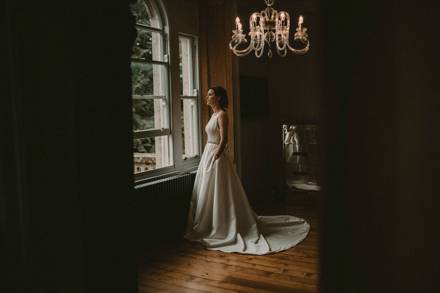 the stunning bride in her dress