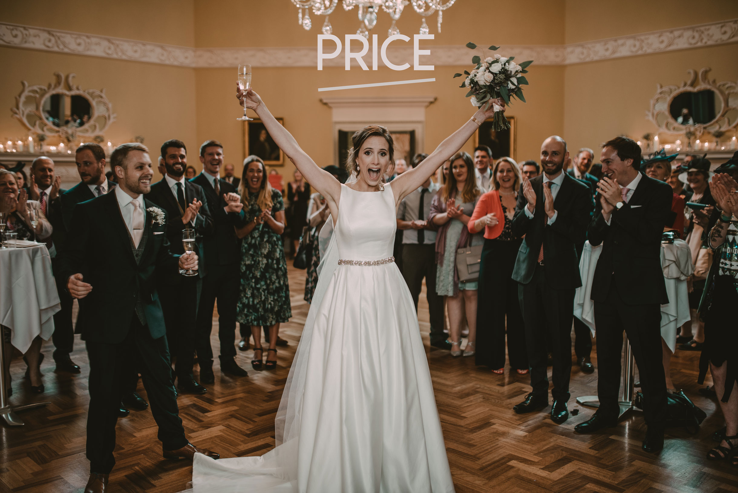 Bride really happy in the assembly rooms in bath