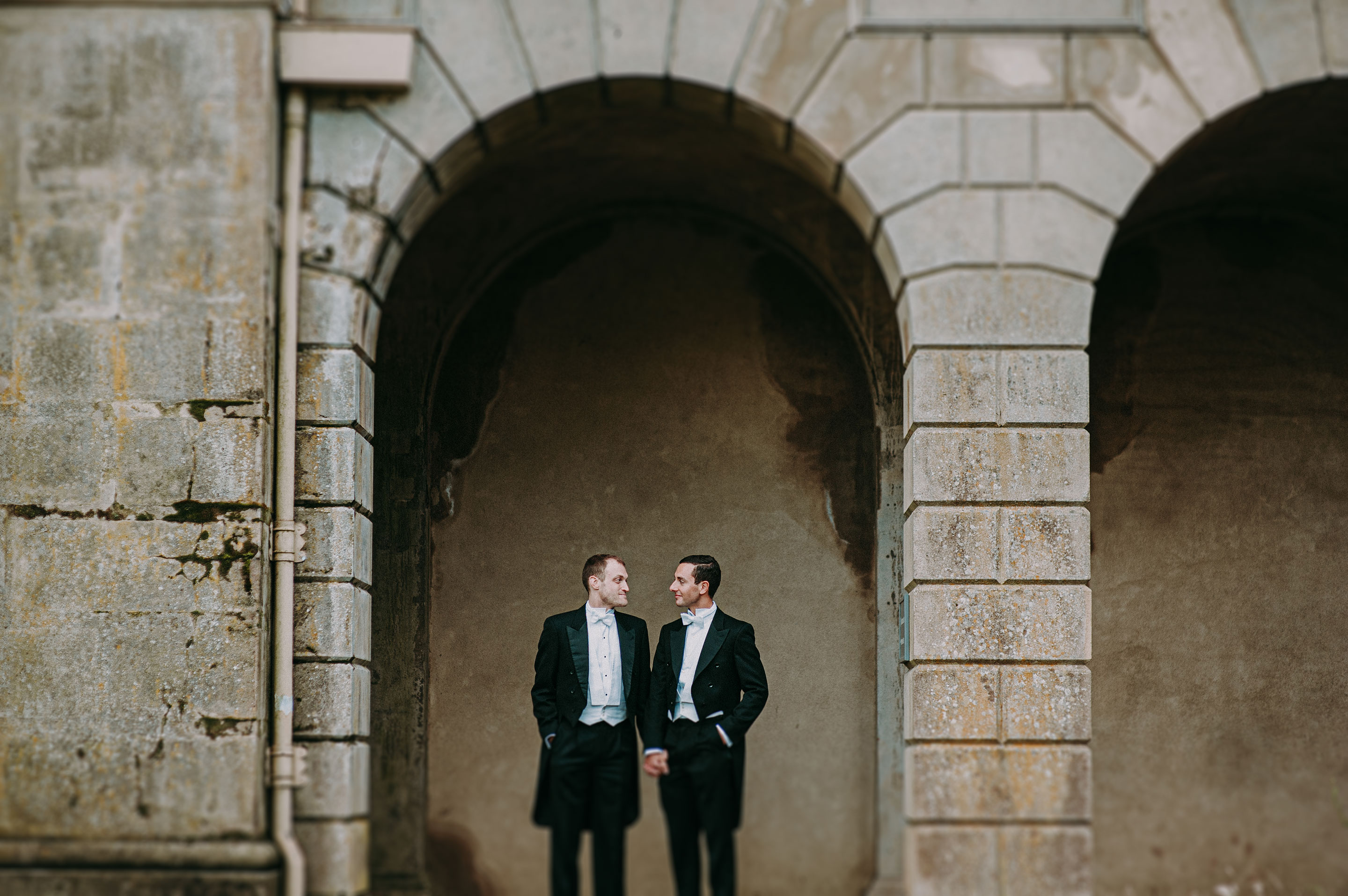 Patrick and Danny at Cliveden House. for their same sex wedding