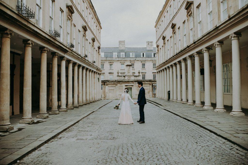 Ken and Lam elopement wedding shoot in Bath.