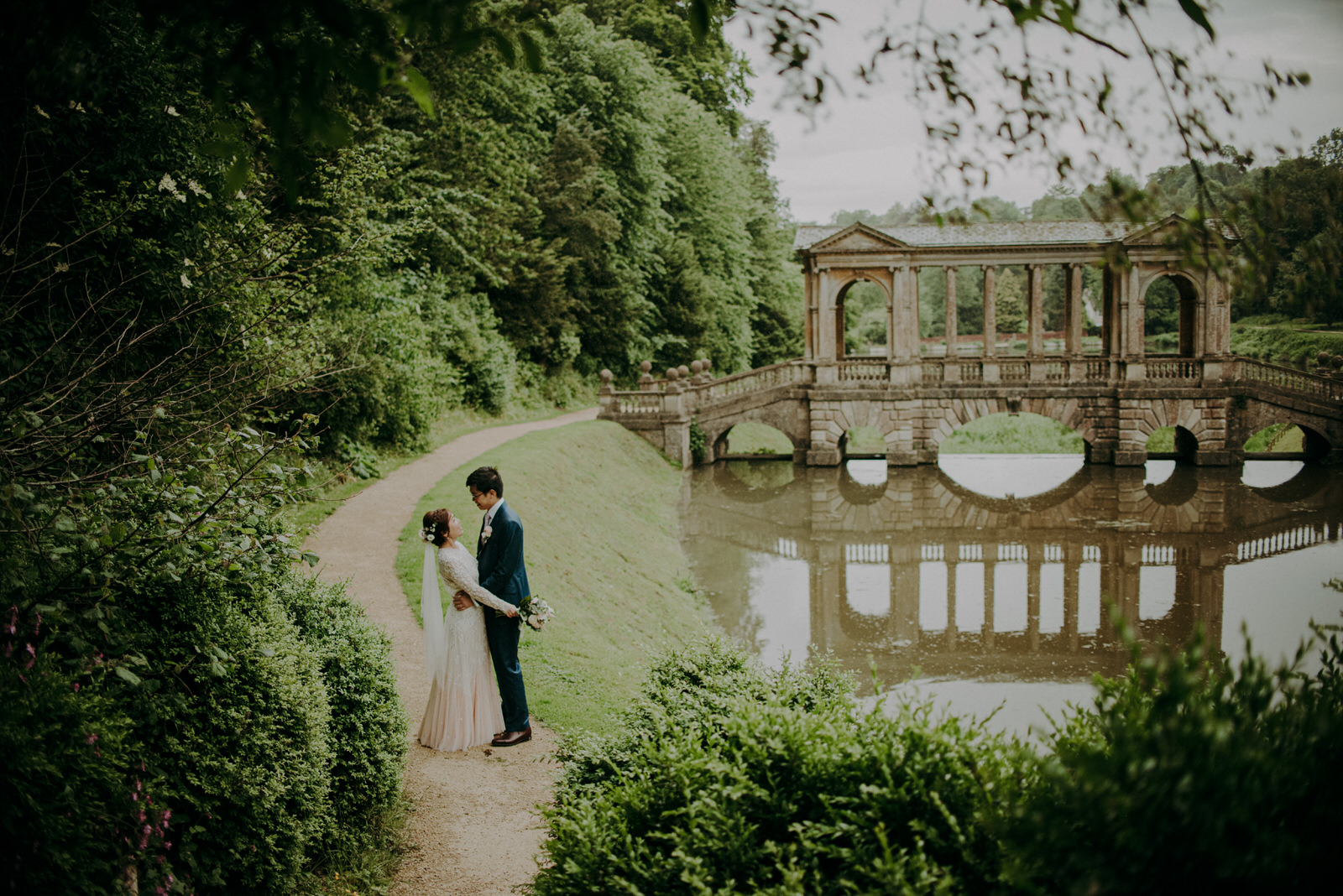 Lam and Ken's elopement in BAth city Centre in Somerset at Prior Park