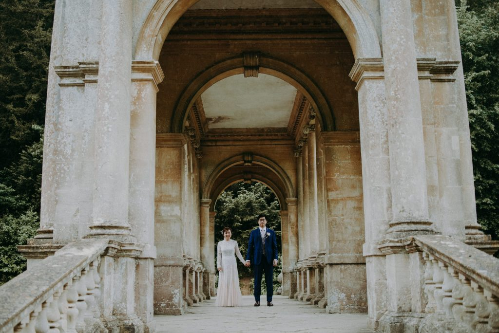 Ken and Lam elopement wedding shoot in Prior Park in Bath