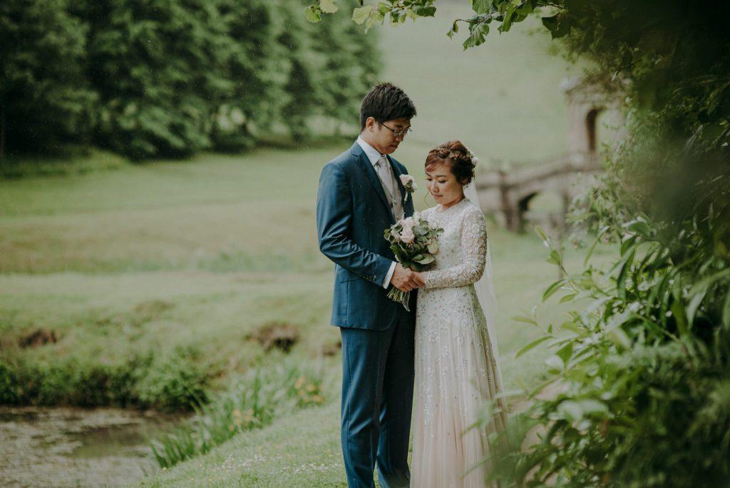 Ken and Lam elopement wedding shoot in Prior Park in Bath